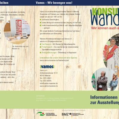"""Informationsbroschüre über die Ausstellung """"Konsumwandel"""""""
