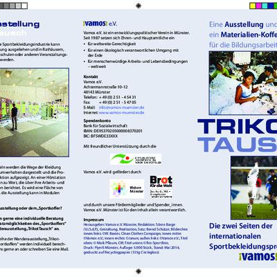 Informationsflyer zur Ausstellung TrikotTausch.