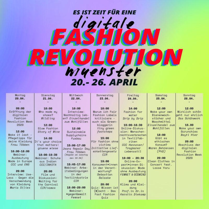 Programm Digitale Fashion Revolution Münster